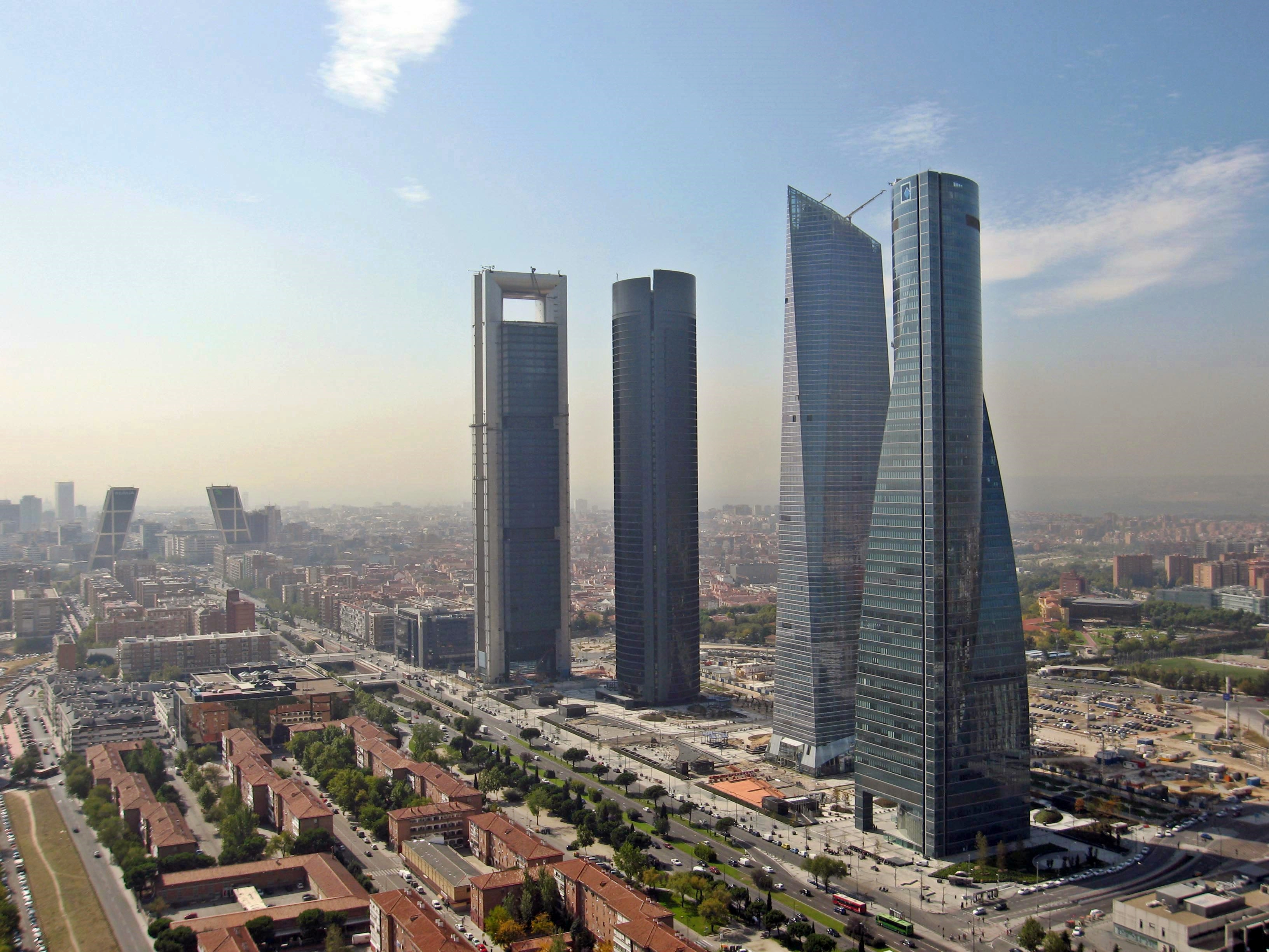 Financial District in Madrid