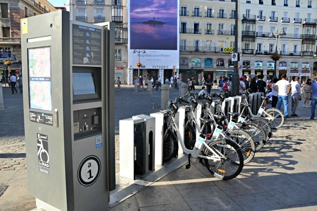 Electric city bike in Madrid
