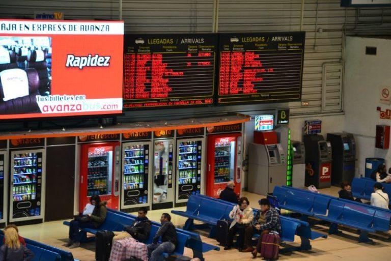 Mendez Alvaro Bus Station in Madrid
