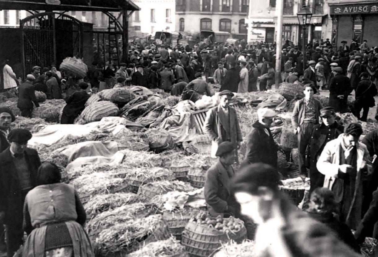 Mercado antiguo Madrid Mercado Cebada