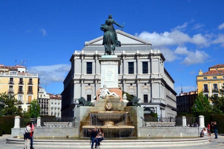 Oriente Square in Madrid