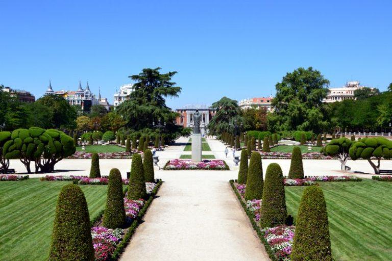 Parterre Retiro Park Madrid
