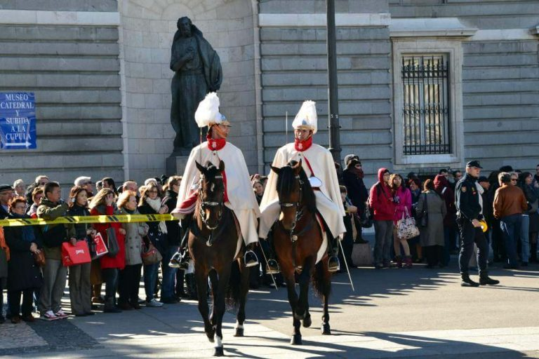 Changing of the guard ceremony in Madrid