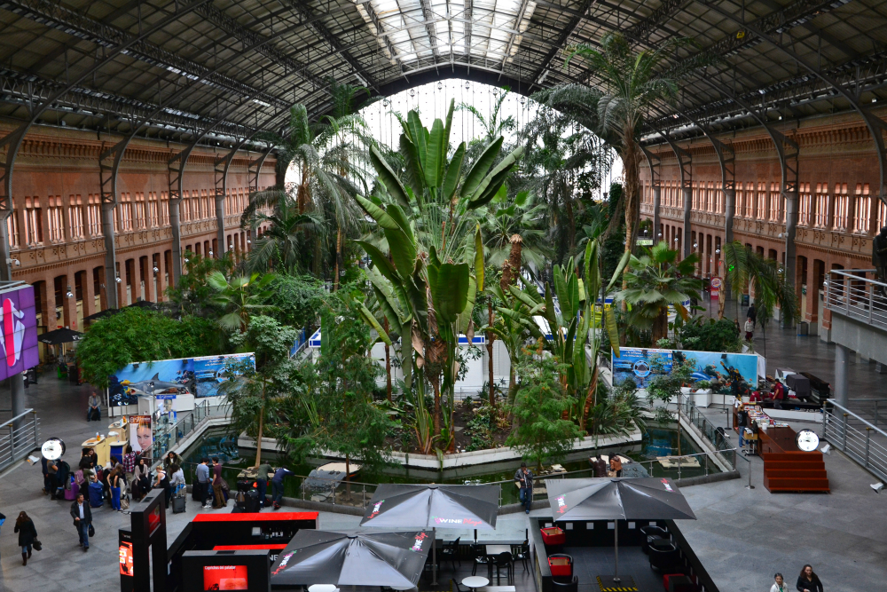 Atocha station ogo tours madrid experience madrid - Garden center madrid ...