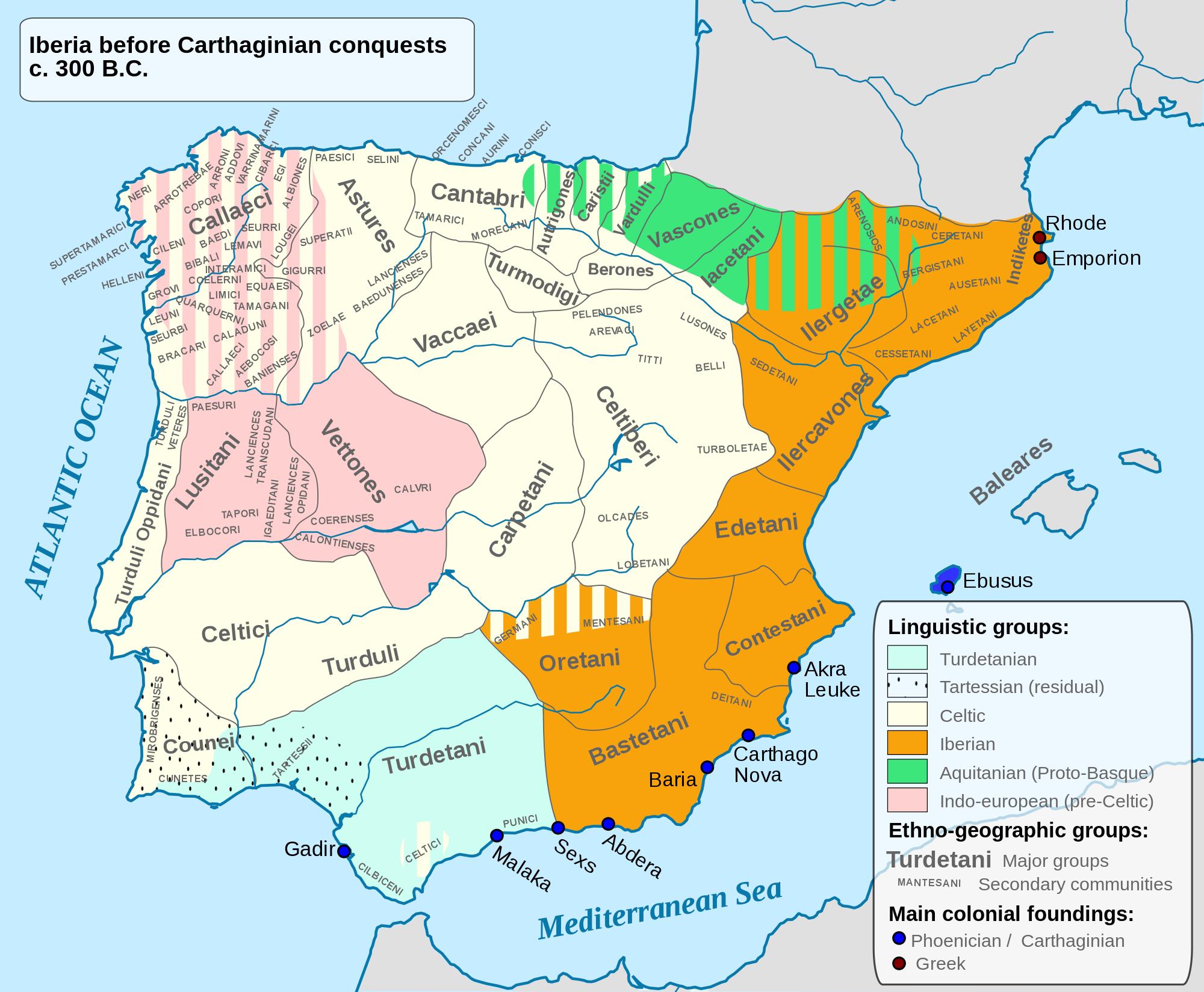 Iberian Peninsula B.C. 300