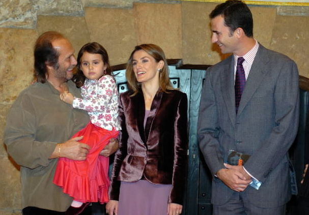 Paco de Lucia with the Kings of Spain, Felipe IV and Letizia