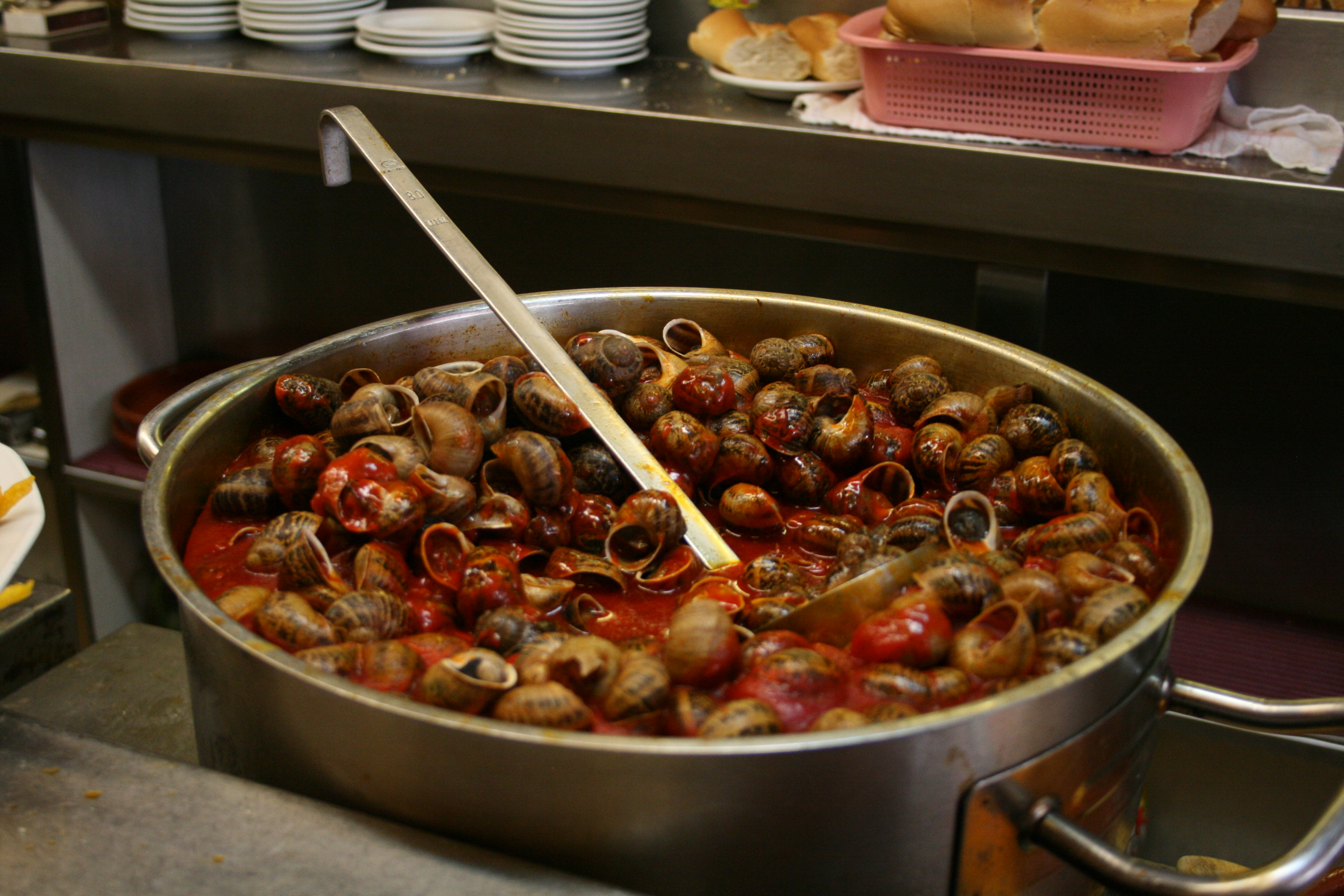 """Caracoles en Salsa"" (Snails in sauce). If you like snails you will love this dish"