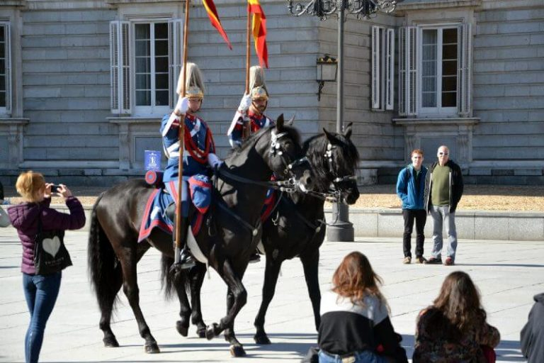 Changing of the guards at the Royal Palace in Madrid