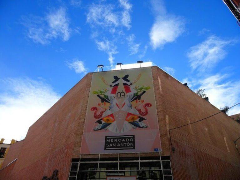 San Anton Food Market in Madrid